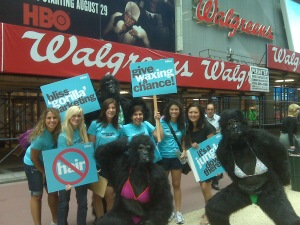 the 'gorilla' marketing street team!